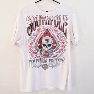 Southpole T-Shirt-Skull Truth and Liberty Graphic